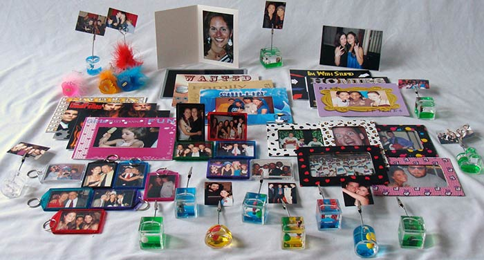 Starter package of novelty photo items for a party